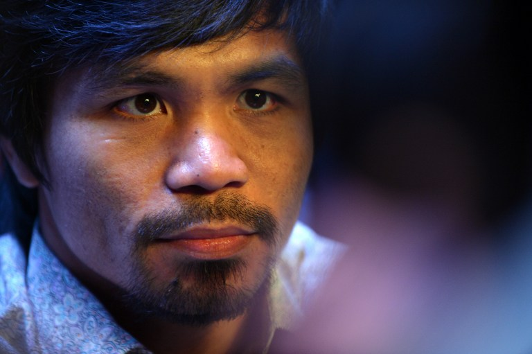 THE OLD PACQUIAO. Critics say Manny Pacquiao has declined over the years but camp insiders say the old Manny Pacquiao and his killer instinct are back. File photo by AFP.