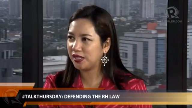 RH bill co-author Iloilo Rep Janette Garin
