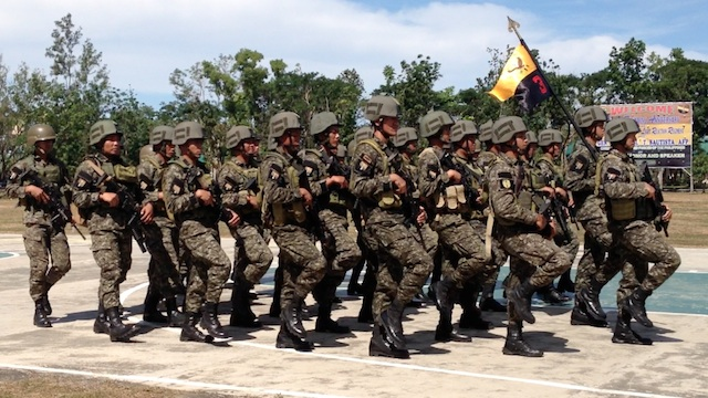 ELITE TROOPS: The Light Reaction troops grow into a regiment. Photo by Carmela Fonbuena/Rappler