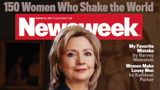 FAREWELL PRINT EDITION. Screen grab of a Newsweek cover from March 2011