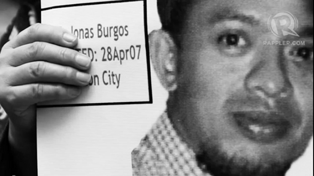 LANDMARK BILL. The Philippines is the first country in Asia to have a law against enforced disappearances. Activist Jonas Burgos is one of the victims of involuntary disappearance, missing since 2007. File photo