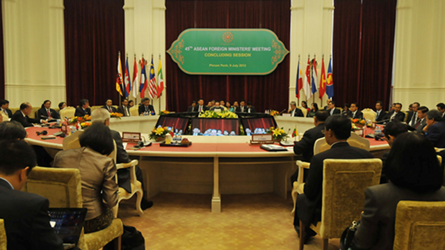 CONTROVERSIAL SUMMIT. The Philippines and Cambodia trade barbs over the recent Asean Ministers' Meeting. Photo courtesy of Agence Kampuchea Presse