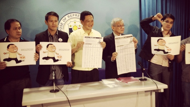 RUNNING OUT OF TIME: FOI authors, advocates slam House committee on public information chair Ben Evardone for failing to put bill to a vote (photo by Carmela Fonbuena)