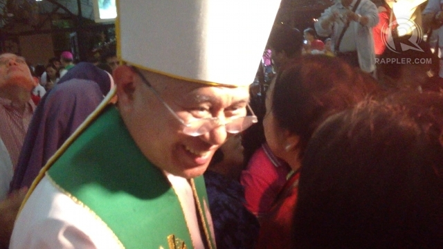 STINGING STATEMENT. Signed by CBCP president Jose Palma (in photo), a statement by Catholic bishops criticizes the supposed 'railroading' of the RH bill. Photo by Paterno Esmaquel II