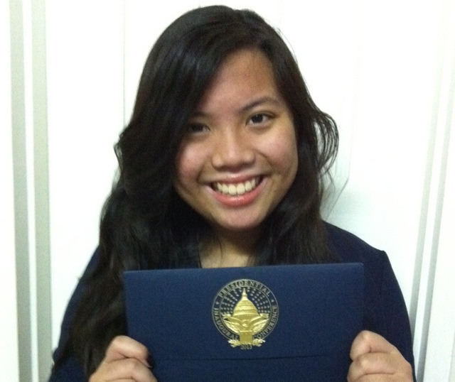 SALVE VILLAROSA. Salve Villarosa with her official invitation to the US Presidential Inauguration. Photo by Tessa Villarosa