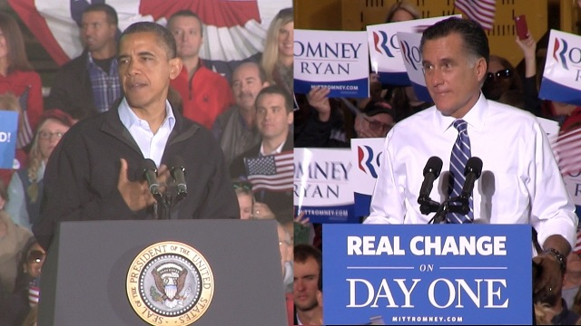 TIGHT RACE: President Barack Obama and Governor Mitt Romney