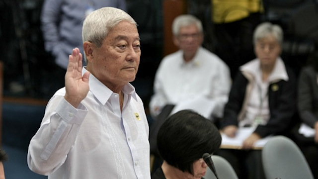 "UNDER SUSPICION. Roberto ""Bobby"" Ongpin faces the Senate Blue Ribbon Committee in November 2011. Photo from Senate website"