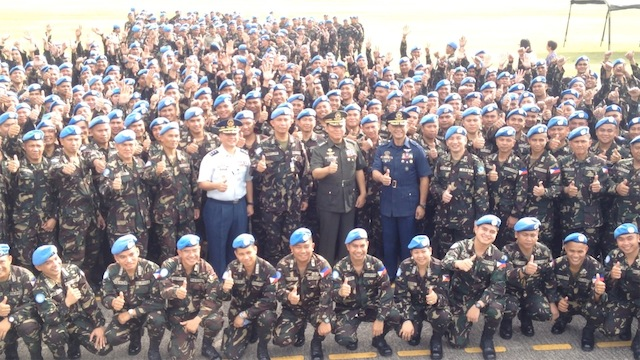 UN PEACEKEEPERS: Hundreds of Filipino soldiers are deployed as United Nations peacekeepers every year. File photo by Carmela Fonbuena/Rappler