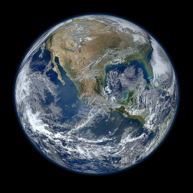 BLUE MARBLE. A smaller version of the 8000 x 8000 px &quot;Blue Marble 2012&quot; image, the highest-resolution image of Earth ever, released by NASA on January 25, 2012. Photo courtesy of NASA/NOAA/GSFC/Suomi NPP/VIIRS/Norman Kuring