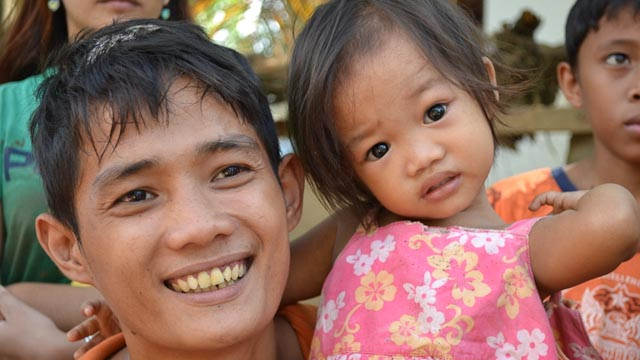 ANTHONY FRANCISCO. Construction worker with his 2-year-old daughter.
