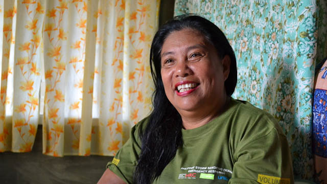 MINDA PIQUERO. One of Oxfam's beneficiaries.