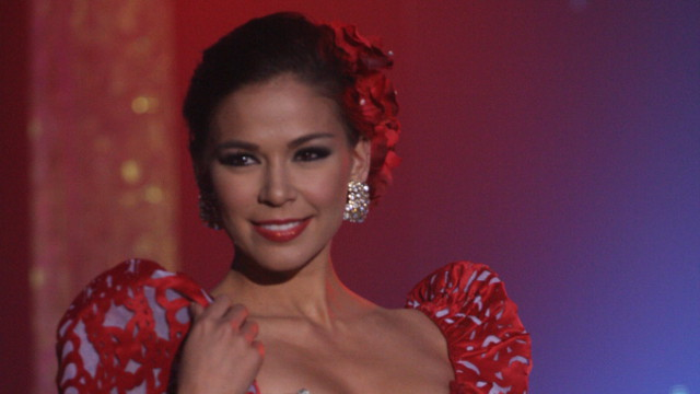 OUT OF THE PAGEANT. Bb Pilipinas candidate number 35 Theresa Fenger lost her chances at the pageant. Photo by Rappler