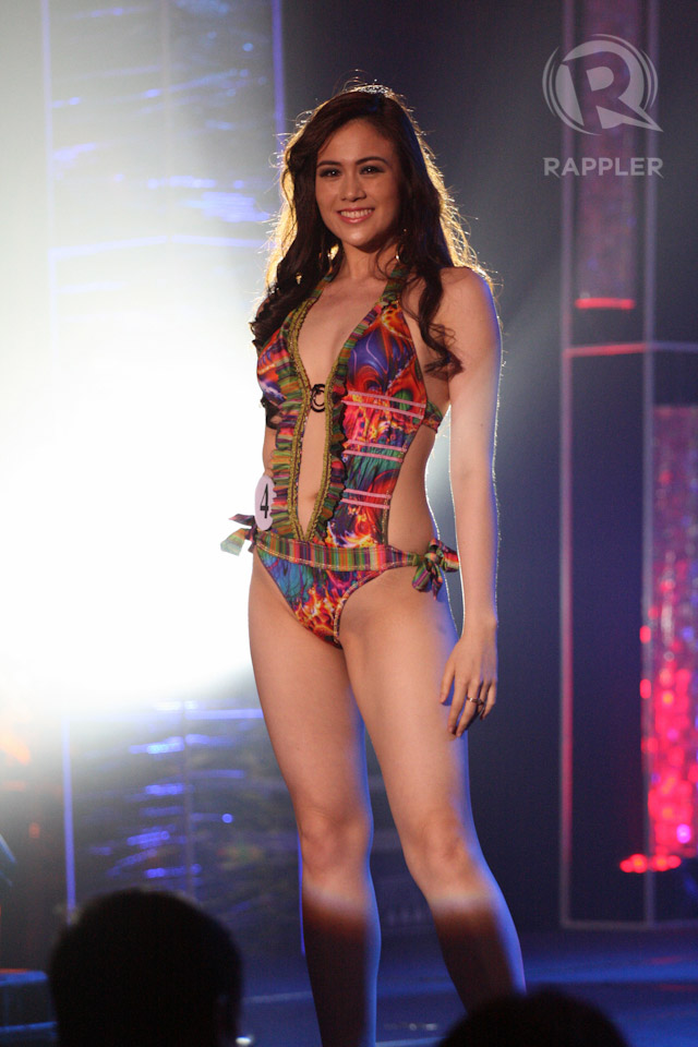 SWIMWEAR COMPETITION. Nicole Donesa at the March 18 press presentation at Makati Shangri-La Hotel. Photo by Manman Dejeto