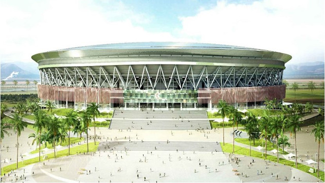 MONUMENTAL. The Philippine Arena is set to be completed in early 2014