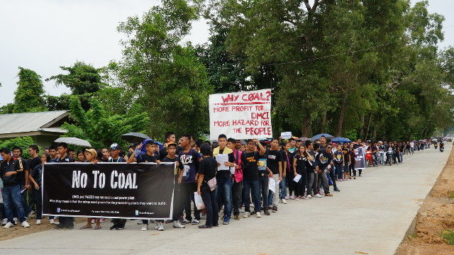 Aborlan Philippines  city photo : NO TO COAL.' Residents and students in Aborlan, Palawan protest the ...