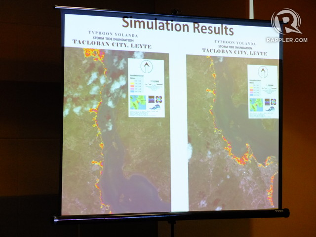 SIMULATION. Project NOAH made storm surge inundation simulations of Tacloban after Yolanda