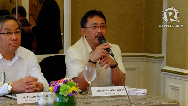 GOING GREEN. Mario Marasigan, head of DOE's Renewable Energy Management Bureau, says renewable energy is ultimately for the benefit of Filipino consumers. Photo by Pia Ranada/Rappler
