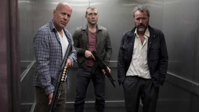 Bruce Willis and co in 'Die Hard 5'