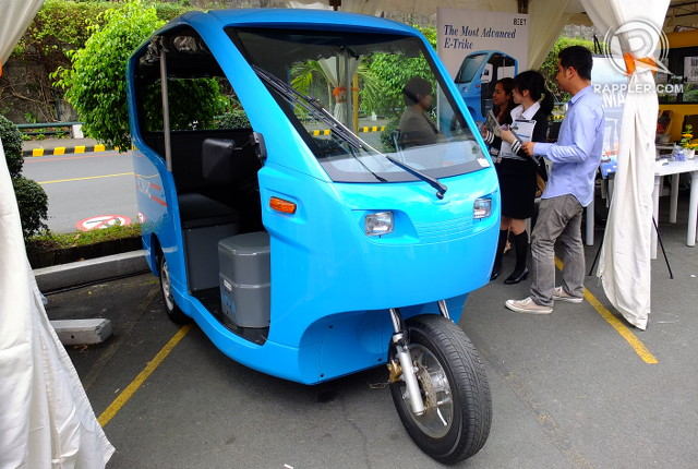 HI-TECH TRIKE. The Bemac e-tricycle from Beet Philippines has regenerative breaks that convert kinetic energy to electric energy, adding energy to its battery every time the driver brakes