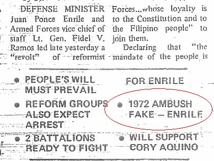 INQUIRER. Published on the front page of the Inquirer on Feb 23, 1986.