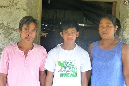 SIMPLE LIFE. Romnick is the son of Renato and Imelda Blanco, a rice and vegetable farmer and a plain housewife. Courtesy of GreenEarth Heritage Foundation.