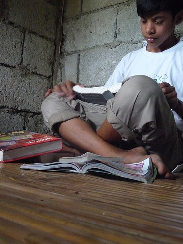 DESIRE TO LEARN. Romnick stayed in school despite his older siblings dropping out, driven by his desire to learn. Courtesy of GreenEarth Heritage Foundation.