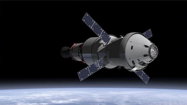 As part of a new agreement between the two space agencies, the European Space Agency will provide the service module for NASA's Orion spacecraft. Image credit: NASA