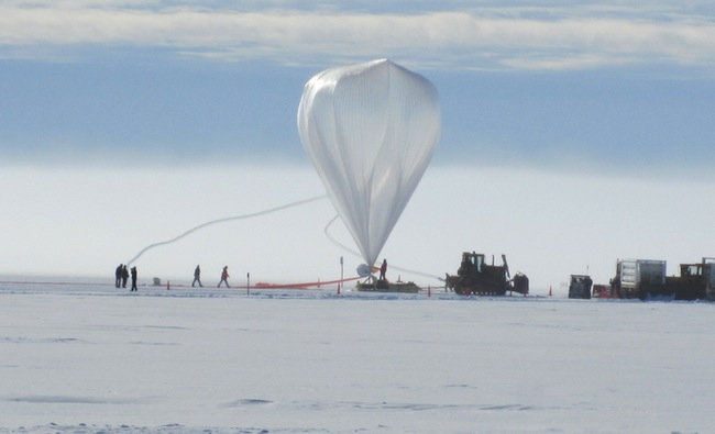 Super-TIGER prepares for launch from Antarctica. Image courtesy of NASA.
