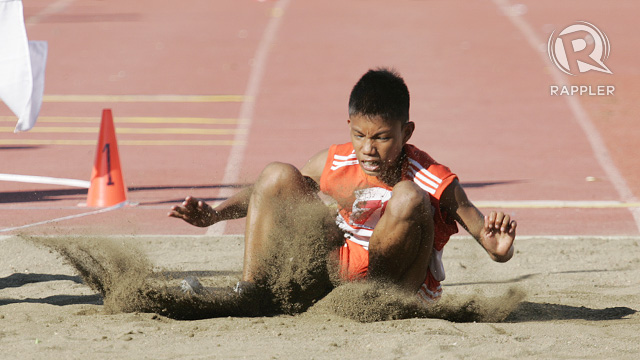 LONG JUMP. Photo by Rappler/Josh Albelda.