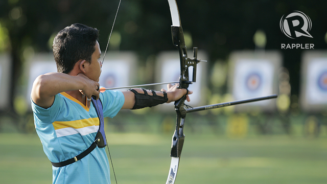 ARCHERY. Photo by Rappler/Josh Albelda.