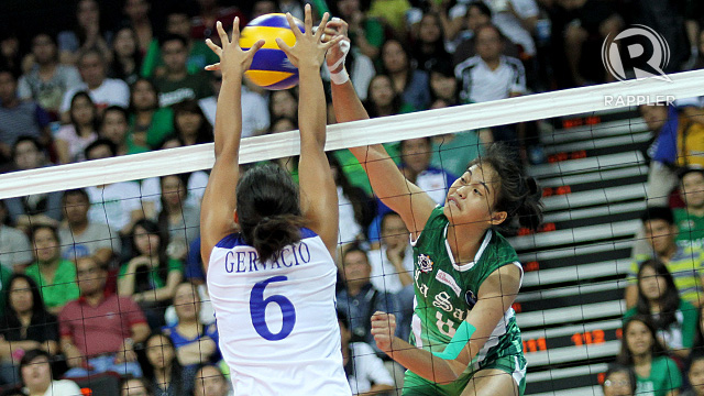 Ara Galang leads La Salle against UE. Photo by Josh Albelda