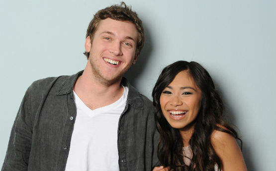 AND THE NEXT IDOL IS... American Idol Season 11 finalists Phillip Phillips and Jessica Sanchez. Photo courtesy of FOX Broadcasting.