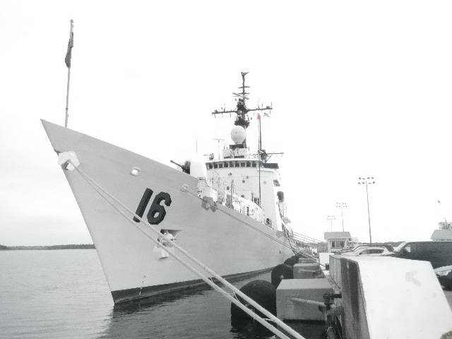 The BRP Ramon Alcaraz (PF16) is moored at the United States Coast Guard station in Charleston, South Carolina, in this photo provided by the Office of the Naval Attache, Philippine Embassy in Washington DC. Photo by the Office of the Naval Attache, Philippine Embassy in Washington, DC