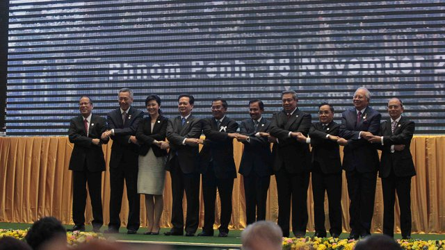 ASEAN leaders in Phnom Penh in Cambodia. Photo by AFP