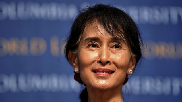 AUNG SAN SUU KYI will meet US President Barack Obama in Myanmar.  AFP PHOTO/Stan HONDA