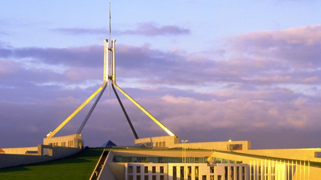 Australia's Parliament House. Photo courtesy of the Parliament of Australia website.