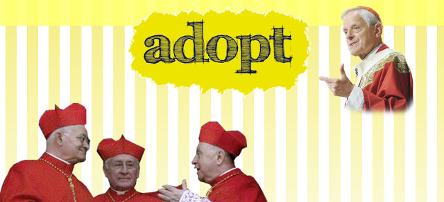 ADOPT A CARDINAL. The Adopt-a-Cardinal website lets you say prayers for the good fortune of a random cardinal in the conclave. Screen shot from Adopt a Cardinal.