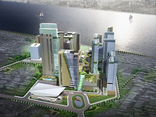 RIVER ACCESS. The upcoming Circuit Makati sits on the southern bank of the Pasig River. Photo courtesy of Ayala Land