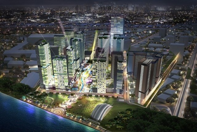 NEW 'CITY.' These pictures (including those below) are the an artist's rendition of Circuit Makati, a P20-B entertainment district at the old Sta. Ana Racetrack. Photos provided by Ayala Land