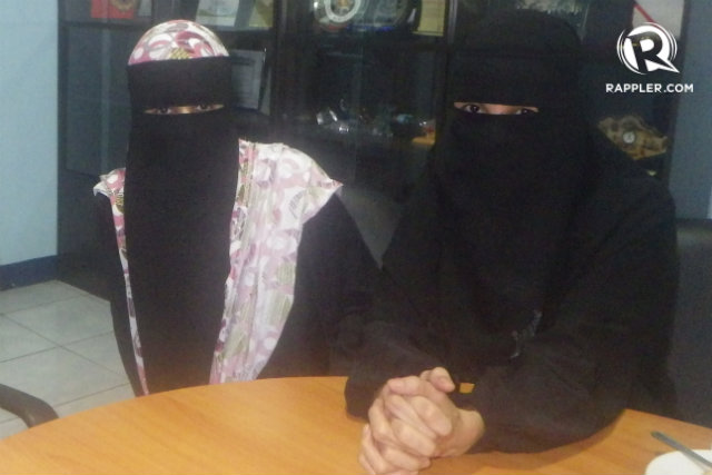 SAFE AND SOUND. Nadjoua and Linda Bansil are back in Manila after being kidnapped by members of the Abu Sayyaf. Photo obtained by Rappler