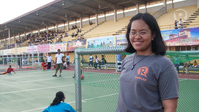 FINDING INSPIRATION. Author Benise Balaoing found inspiration in goal ball Palarong Pambansa athletes. Julienne Joven.