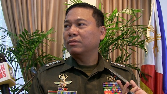 ADDRESSING SPOILERS: Armed Forces chief of Staff Gen Emmanuel Bautista says he's looking forward to the signing of the peace pact with the Moro Islamic Liberation Front. Photo by Carmela Fonbuena/Rappler