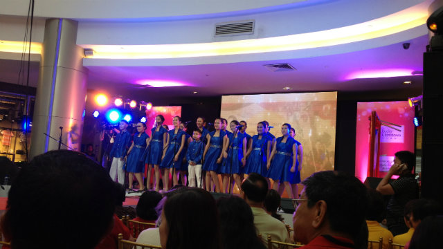 ANGELIC VOICES. The Chiang Kai Shek College Chorale group treated the audience to a medley of songs.