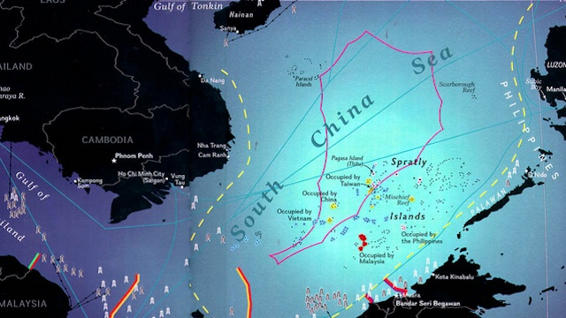 CONTROVERSIAL MAP. Map featuring China's 9-Dash line claim over the South China Sea. Image courtesy of www.southchinasea.org