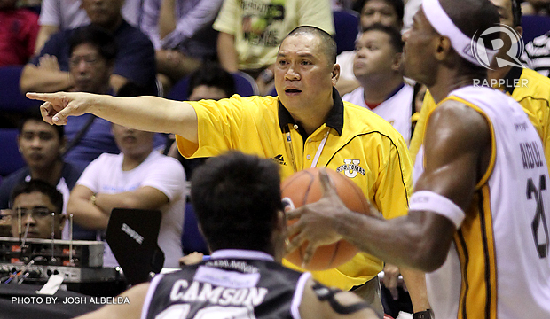 STEPPING DOWN. After seven seasons with the UST Growling Tigers, head coach Pido Jarencio leaves the team and eyes a PBA coaching job. Photo by Josh Albelda.