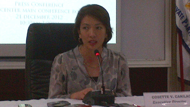 COMPLETED. PPP Center Executive Director Cosette Canilao said it has been able to rollout the 8 PPP Projects it targeted for 2012. Photo courtesy of Cai Ordinario.