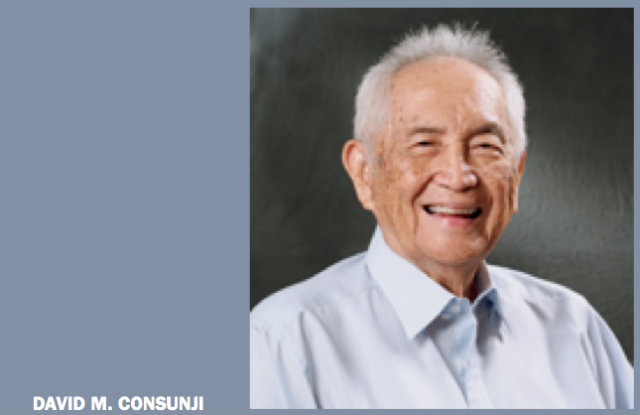 5TH RICHEST. David M. Consunji's net worth of $2.7 billion in 2012, ranked him the 5th richest man in the Philippines, according to Forbes. Photo taken from DMC's 2011 annual report.