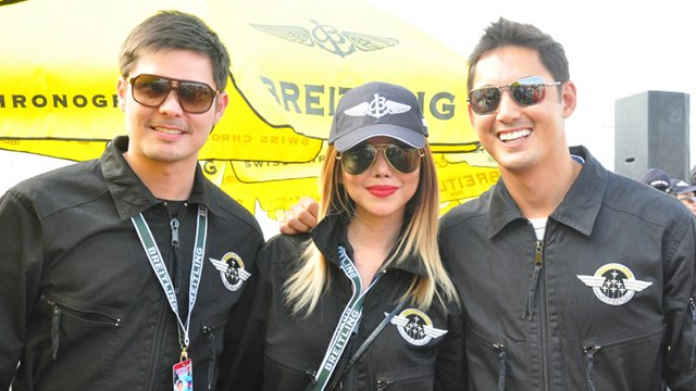 MISSION ACCOMPLISHED. Dingdong Dantes, Bianca Valerio, and Marc Nelson fulfilled lifelong dreams in that flight with the Breitling Jet Team. Photo and video by Katherine Visconti