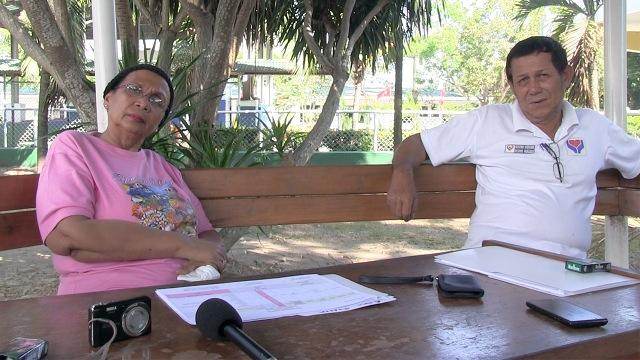 WORKING SUNDAY: DILG-ARMM Asec Sharifa Pearlsia Dans and DSWD-ARMM head documentor Eduardo Baird (Photo by CARMELA FONBUENA)