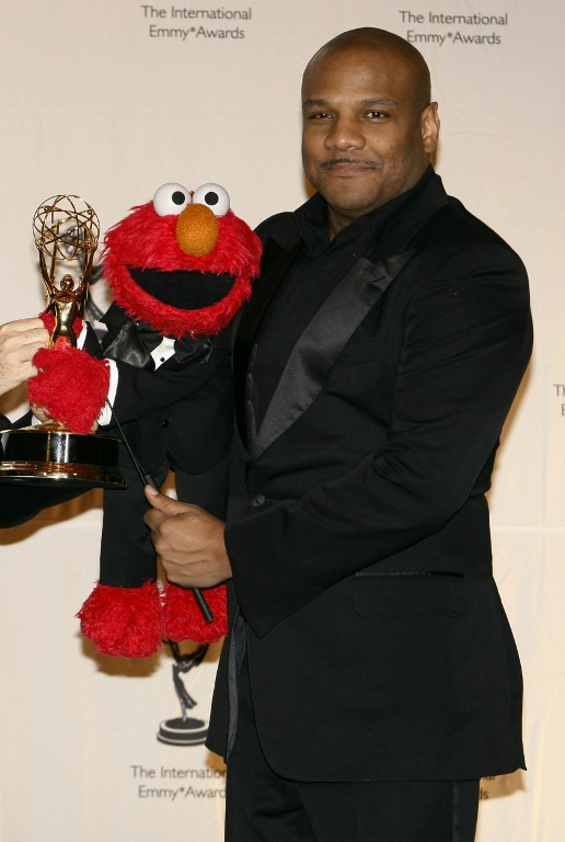 Photo dated November 19, 2007 shows puppeteer Kevin Clash and his Sesame Street character Elmo at the 35th Annual International Emmy Awards in New York. AFP PHOTO/FILES/Stan HONDA